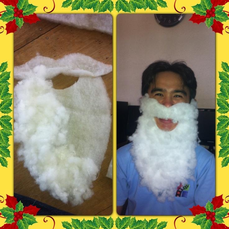 DIY Santa's beard