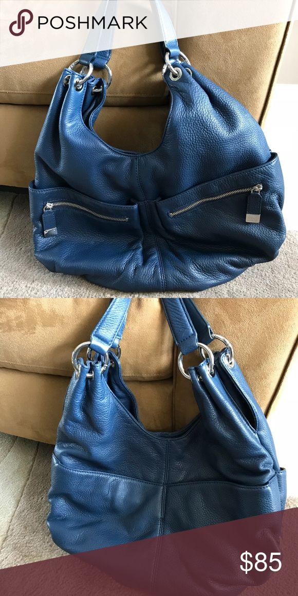 Michael Kors Shoulder Bag Navy Shoulder bag, silver detail, 4 exterior pockets MICHAEL Michael Kors Bags Shoulder Bags