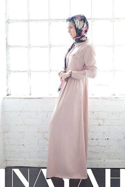 Light Mocha Shirt Abaya + Black Floral Hijab | INAYAH www.inayahcollection.com  #inayah#abayas#modestfashion