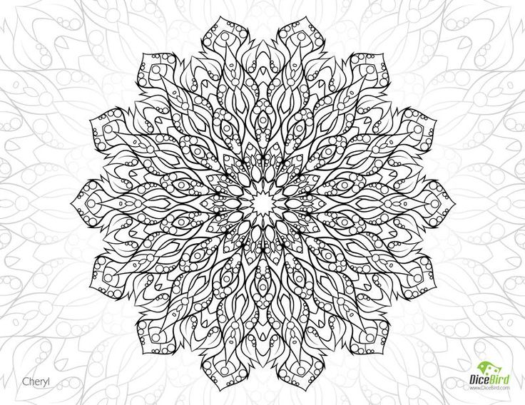 cheryl flower free complicated coloring pages - Complicated Coloring Pages
