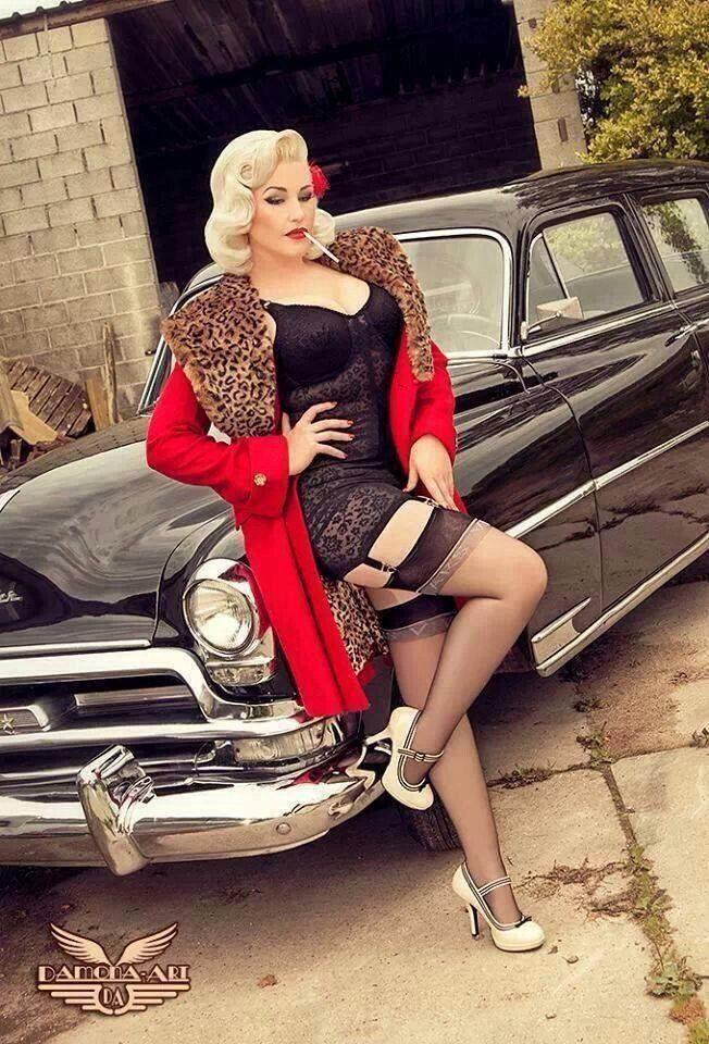 pin up cars pin ups pinterest voitures sexy voitures et bon anniversaire. Black Bedroom Furniture Sets. Home Design Ideas