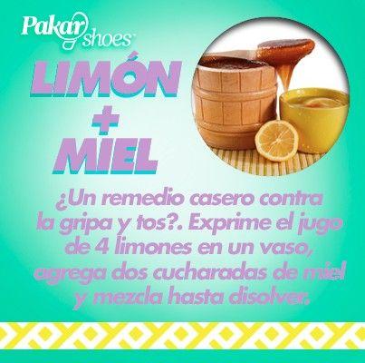 Remedios naturales para la GRIPE y TOS: Limón + miel