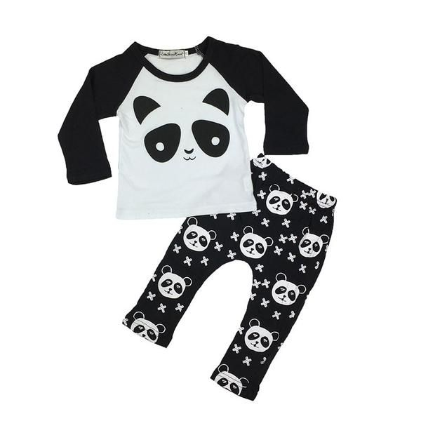 Autumn Long Sleeved Cartoon Panda Outfit!