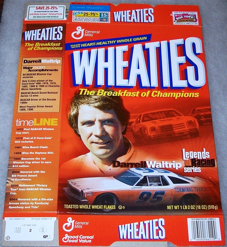 Image detail for of Racing Darrell Waltrip WHEATIES