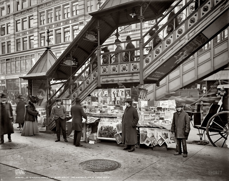 Newsstand in New York, USA 1903 Photo taken by http://www.flickr.com/photos/jan1ce/