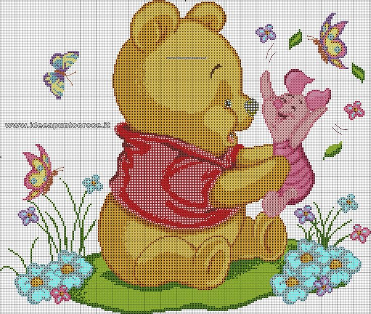129 best images about schemi winnie the pooh on pinterest for Schemi punto croce winnie the pooh baby