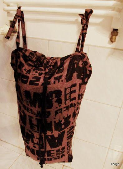 Wór-śpiwór-kosz na na bieliznę! | my handmade loundry bag