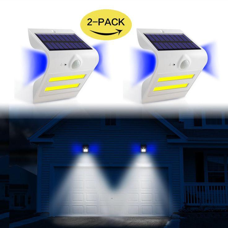 Solar Lights Outdoor Motion Sensor Super Bright Solar Wall Lights 32 LED Lighting + 3 Backlight Decorated Outdoor Solar Motion Sensor Lights for Door,Patio,Shed,Yard,Garage,Porch,Garden,Stairs 2-pack