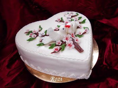 Rozi Erdélyi konyhája: Szív torta,eljegyzésre