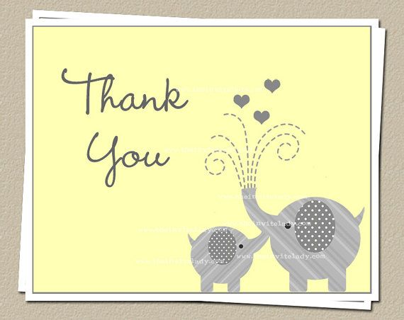 Best Baby Shower Thank You Cards Images On