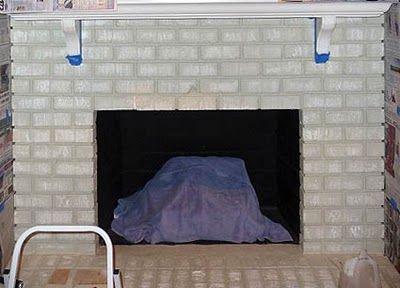 Painting Brick Fireplace – From White to Beautiful Brownstone