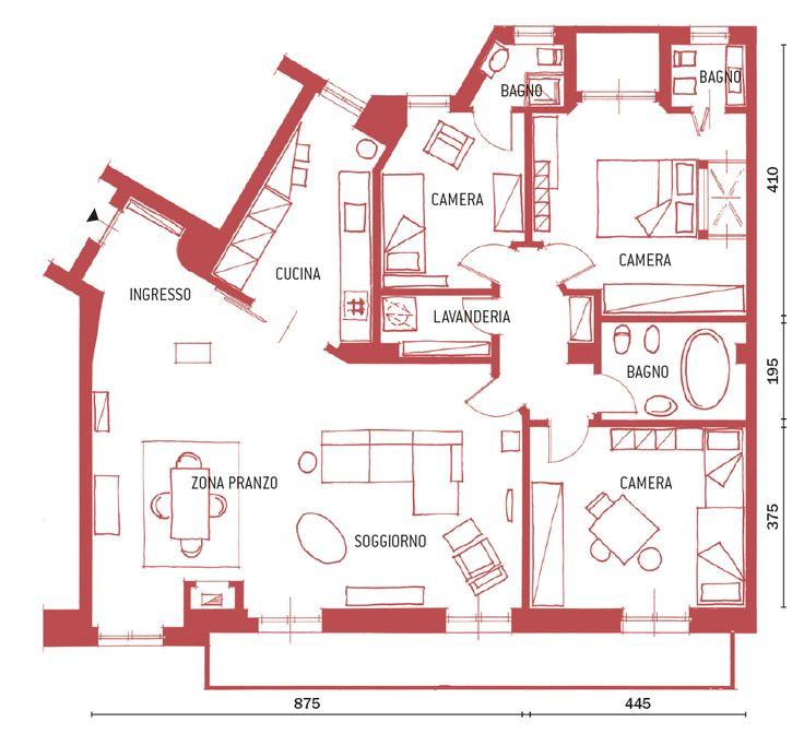 Una casa con zona giorno ampliata e un bagno in più - Cose di Casa