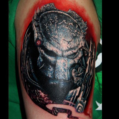 TATU BABY TATTOOS!, Heres a better photo of the predator tattoo I ...