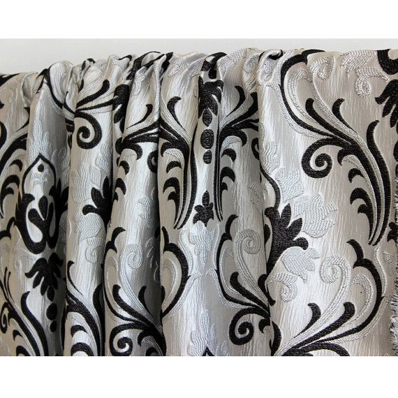 Best 25+ Damask curtains ideas on Pinterest | Door canopy black ...