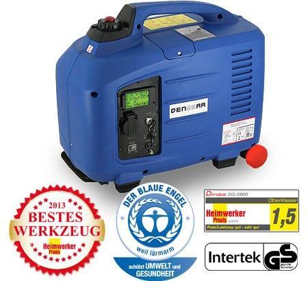 Denqbar Inverter Stromerzeuger mit 2,8 kW E-Start: Note Sehr Gut bei Heimwerker Praxis 03/2012