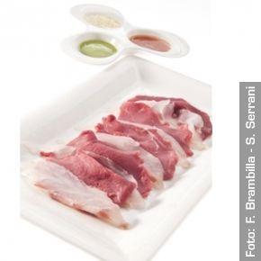 Carn'e pesce (riferimento a Gualtiero Marchesi). Chef Daniel Canzian e Sergio Motta