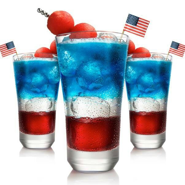 4th of July drinkSvedka Vodka, Suddenly Summer, Blue Curacao, 4Thofjuly, Cranberries Juice, Alcohol Drinks, Food, 4Th Of July, 4Th Parties