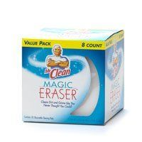 Tackling this daily task in the Weekly Household Planner:  Spot Clean with Magic Eraser