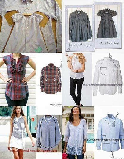recyclage de chemises d'homme