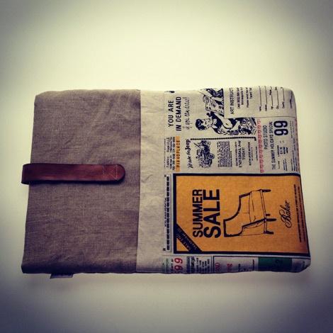 Newspaper macbook sleeve by Things You Wear, buy on Etsy.com