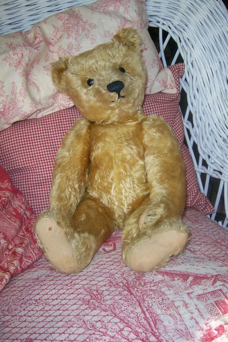 Early Steiff Teddy....Photo via Ebay