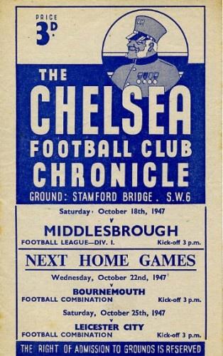 Chelsea vs Middlesbrough 1947