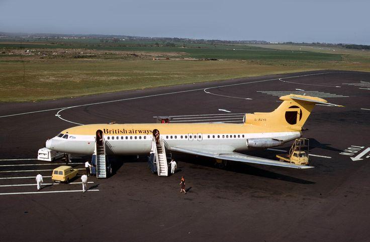 Trident: G-AVYB British Airways Northeast Newcastle Airport