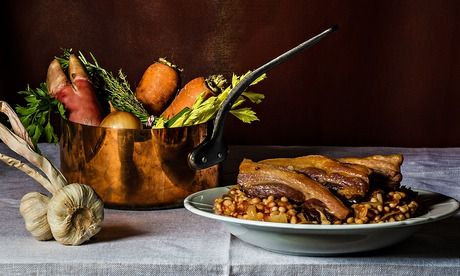 Beans and Bacon. Photograph: Romas Foord for Observer Food Monthly