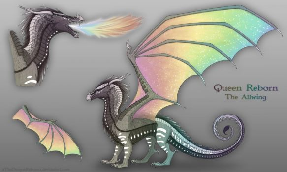 Queen Reborn The Allwing By Xthedragonrebornx Wings Of Fire Wings Of Fire Dragons Dragon Wings