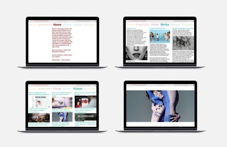 DEFINITIEF ONTWERP WEBSITE  De website is onderverdeeld in 3 kolommen die duidelijkheid en overzicht scheppen. In deze drie kolommen kan men dan afhankelijk van het onderwerp, de juiste informatie vinden.  Deze drie kolommen zijn ook alledrie apart bestuurbaar. Hiermee bedoel ik dat al er in de eerste kolom naar beneden wordt gescrold, de andere 2 op hunzelfde plaats blijven.  Bij het bekijken van een video kan men kiezen om dit op klein formaat of op fullscreen modus te bekijken.