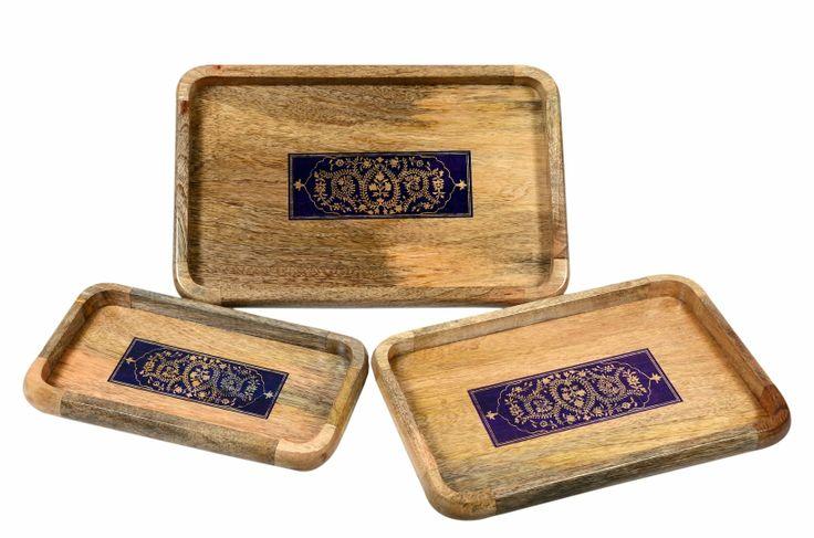Purple Mughal Serving tray