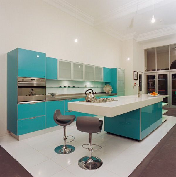 Modern Kitchen Ideas with Stylish Kitchen Cabinets and Unique Table