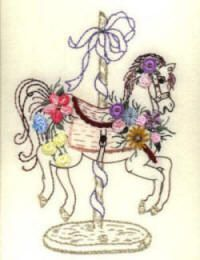 "** ""Carousel Horse"" Brazilian Embroidery Pattern @jdrbe                                                                                                                                                                                 More"