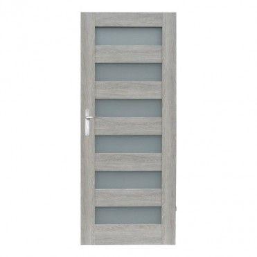 Drzwi pokojowe Trame 80 cm prawe dąb szary