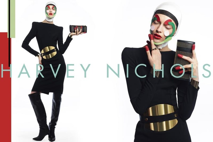 Harvey Nichols AW12 Campaign with paper makeup #Lisaeldridge
