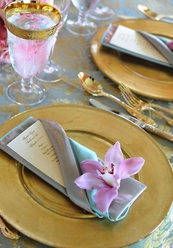 Nice Way To Fold Napkin And Add A Splash Of Colour With Flower