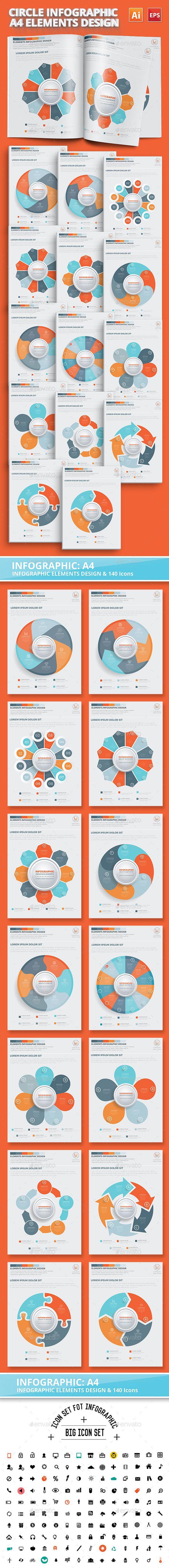 Circle Chart Infographic Design Template Vector EPS, AI Illustrator. Download here: http://graphicriver.net/item/circle-chart-infographic-design/16451598?ref=ksioks