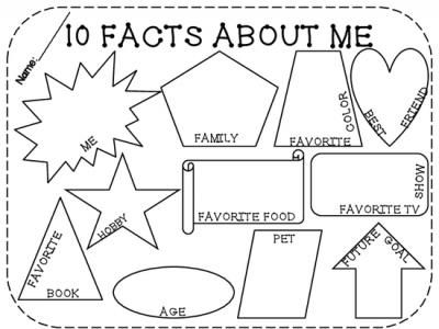 10 Facts About Me! Back to School from LearningandGrowing