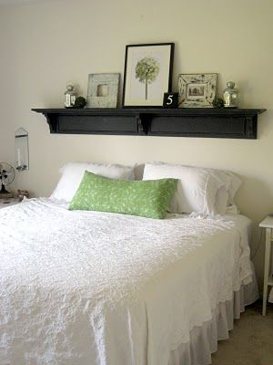 @Kayla Schubert Headboard shelf  I think this is what I want to do for my room.  what do you think?