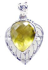 ideal Lemon Quartz 925 Sterling Silver Yellow Pendant gemstone US gift