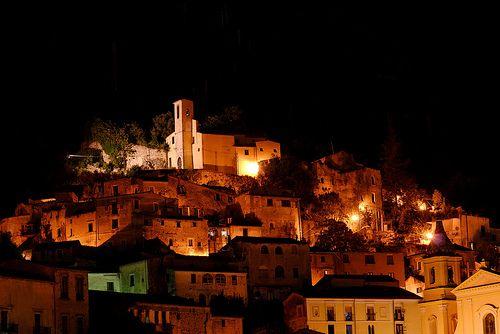 Piedimonte matese. Centro Storico (night shot).