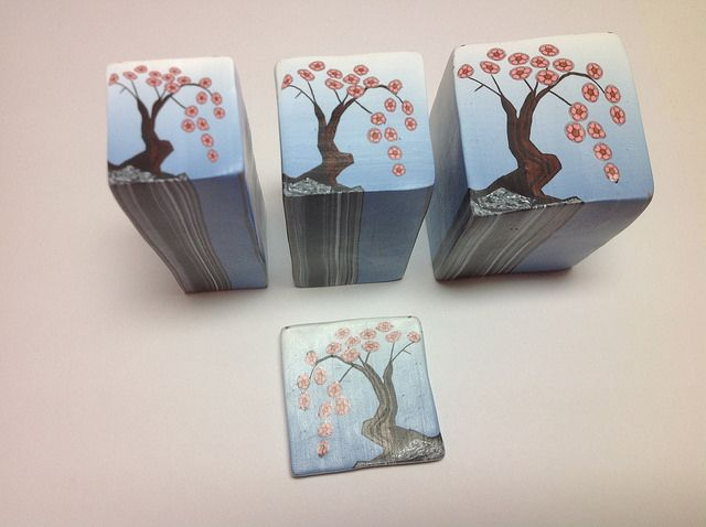 See how to make this Cherry Tree cane in polymer clay by Wendy Jorre de St Jorre.