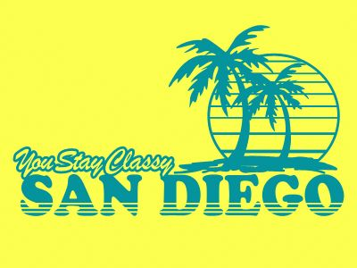 You Stay Classy San Diego T-Shirt (Anchorman) - Vintage Cotton