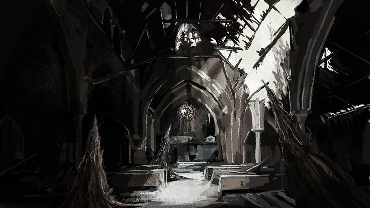 Background painting by Jennifer Leaver. Bandai Namco's Code Vein Teaser.