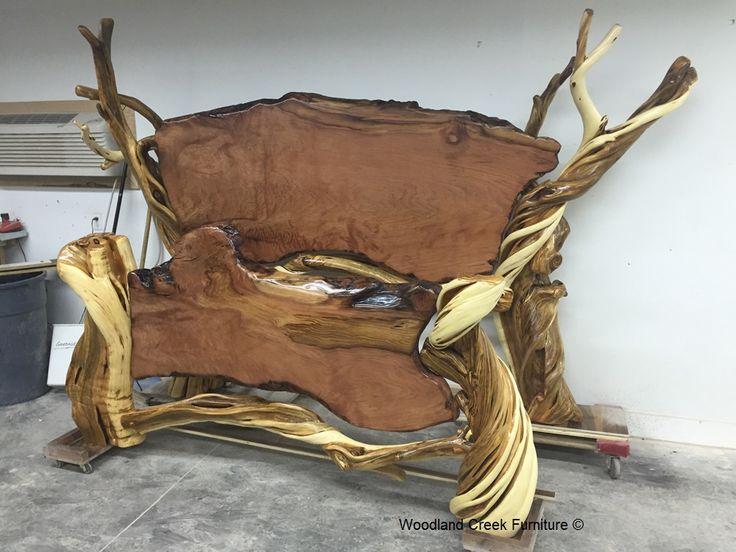 53 best rustic burl wood juniper furniture collection for Unusual wooden beds