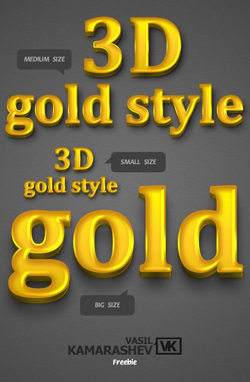 Freedownload > Photoshop > Styles 3D Gold Style. Read full post http://webneel.com/webneel/blog/ultimate-collection-500-photoshop-layer-styles-your-design-free-download | Follow us www.pinterest.com/webneel