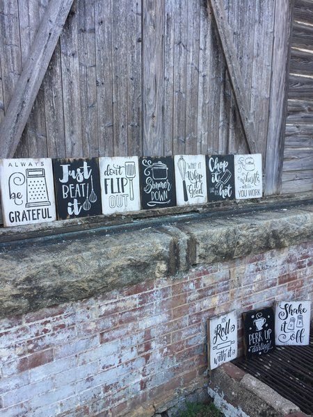 The Cute Kitchen Collection - 10 Rustic Wood Signs - Farmhouse - Funny - Distressed - | Oconee Sign Shack