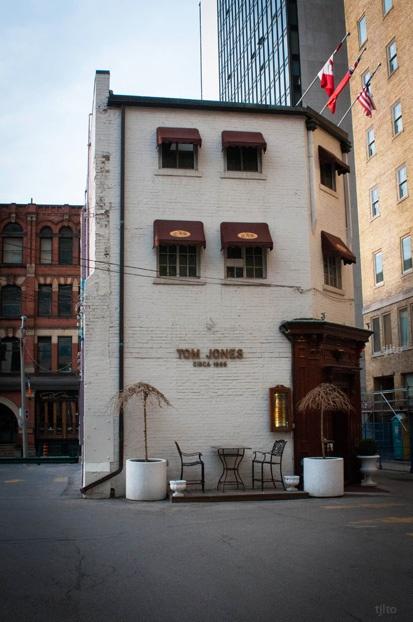 Old vs New, Tom Jones pub, Toronto by Tim J Lindell, via Flickr