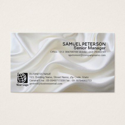 #Pearl Satin Fabric Texture Professional Card - #white #simple