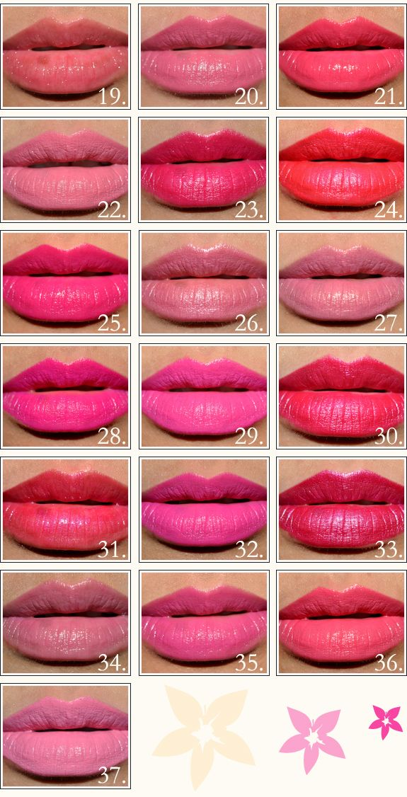 So many pinks! Decide which one goes the best with your skin tone and you're all set(: blue toned pinks are my favorite!